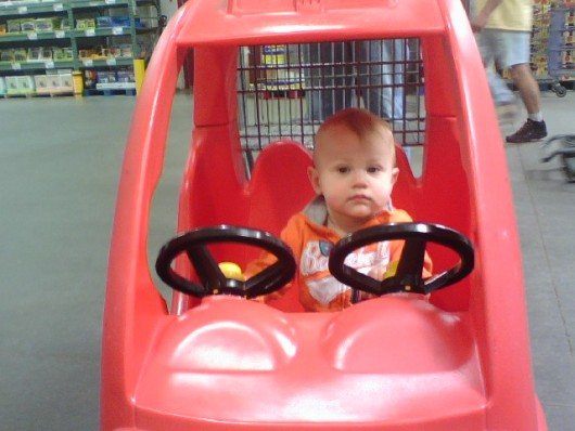 Driving the truck cart at BJ's