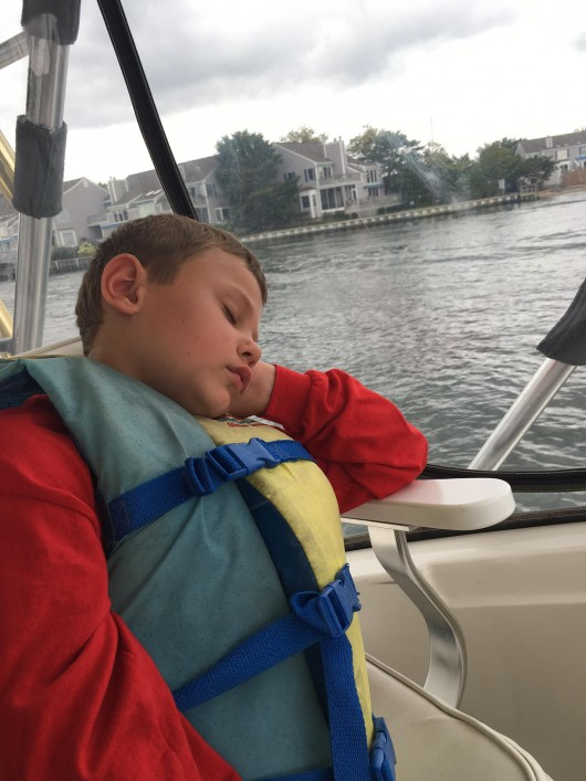 Quick power nap on the way back to the dock