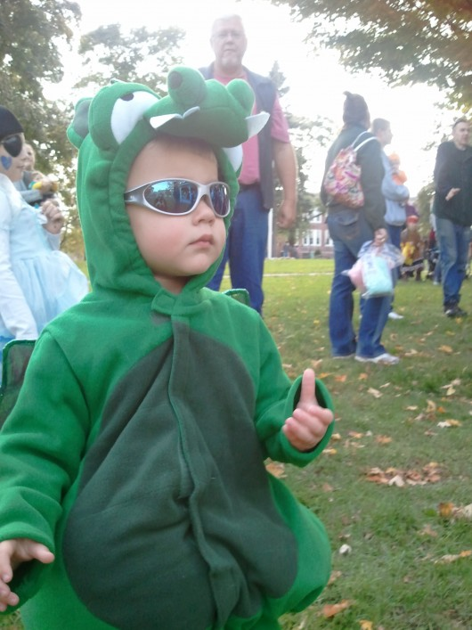 Halloween in the park - one cool dude.