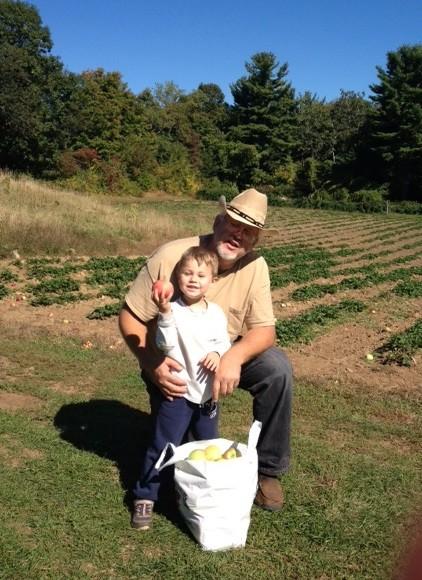 Farmer Poppi and Ty the farmhand.