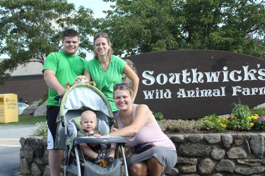 A family outing to the zoo.