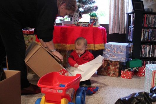 Getting into the unwrapping now.