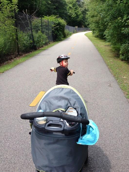 A bike ride on the blackstone bikepath