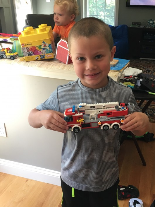 Thanks Mimi and Grampi. Truck is built. Onto the firehouse!