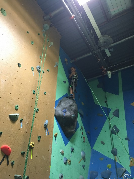 Rock climbing for his birthday!