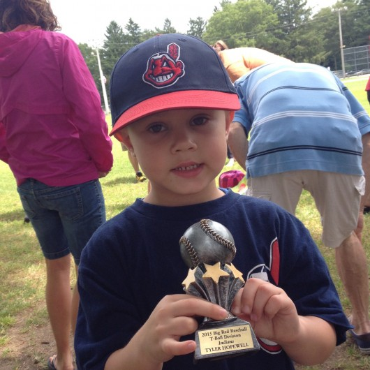 Tball trophy - Way to go Indians!